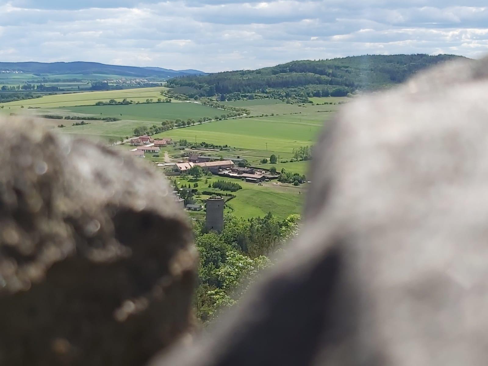 Výhled na Žebrák z Točníku